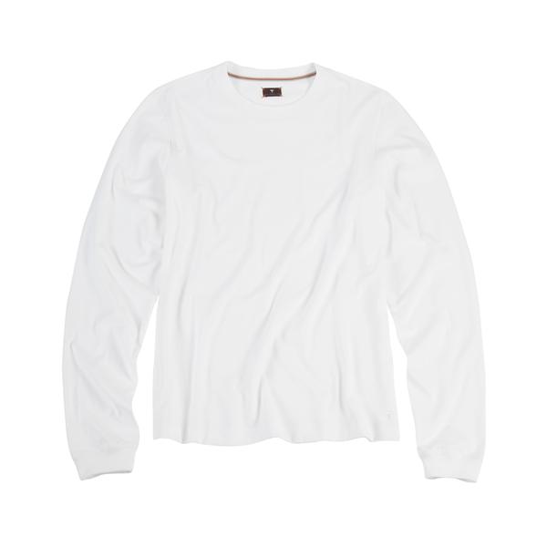White Long Sleeve Tee Shirt.