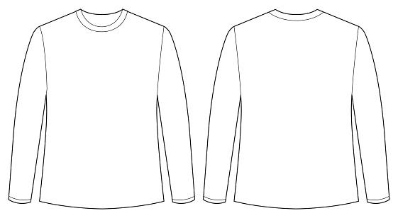 Long Sleeve T Shirt Vector Template at GetDrawings.com.