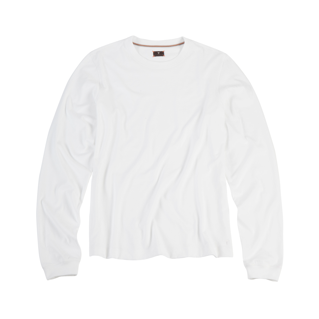 White Long Sleeve Tee Shirt.