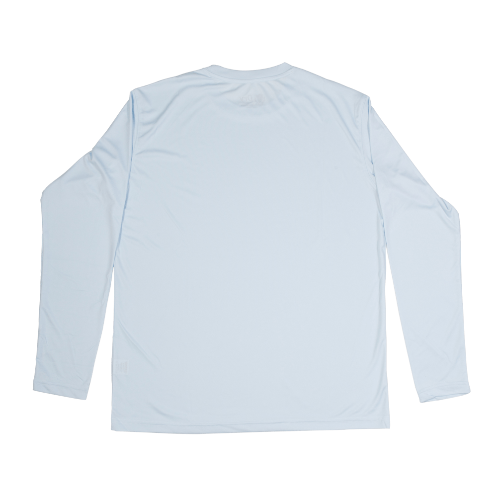 Men's P.I. DRY Fit Long Sleeve Shirts (White).