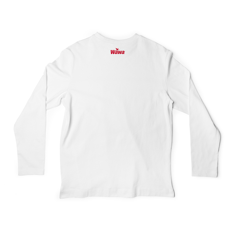 Wawa Vintage Logo Long Sleeve White T.