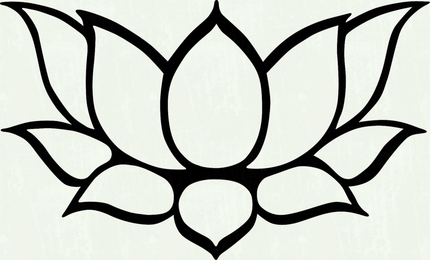 White lotus flower clipart 1 » Clipart Station.