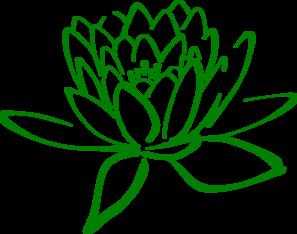 Green Lotus Clip Art.
