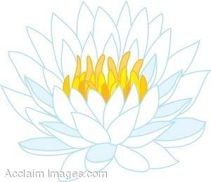 White lotus flower clipart » Clipart Station.