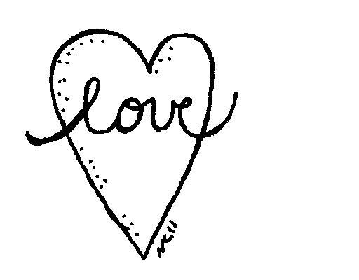 Love Clipart Black And White Love.