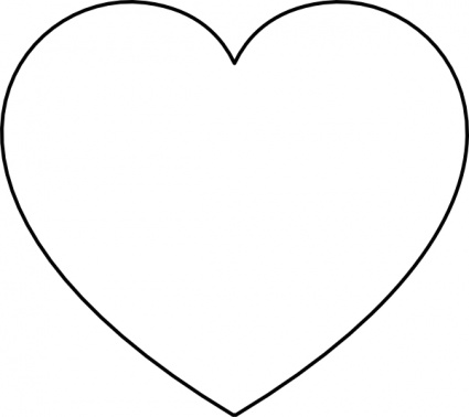 Free black and white love clipart.