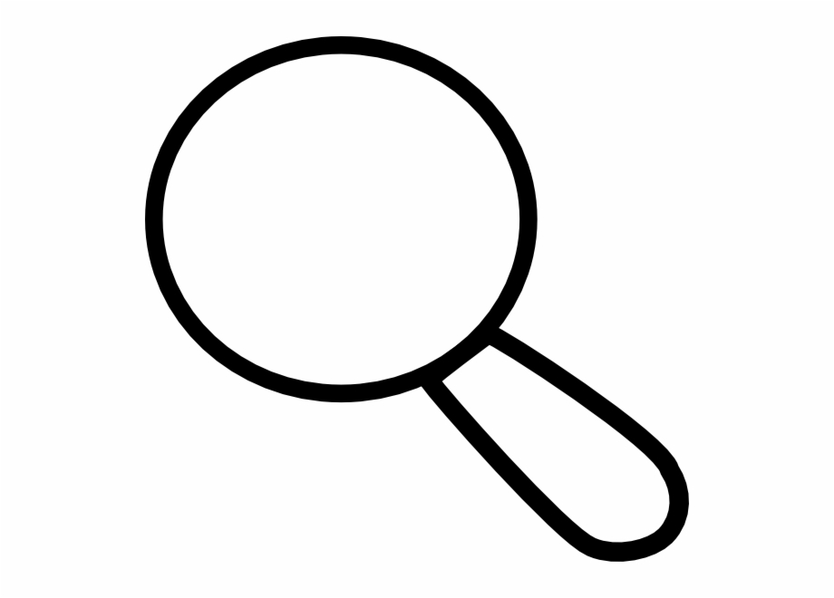white magnifying glass clipart #7