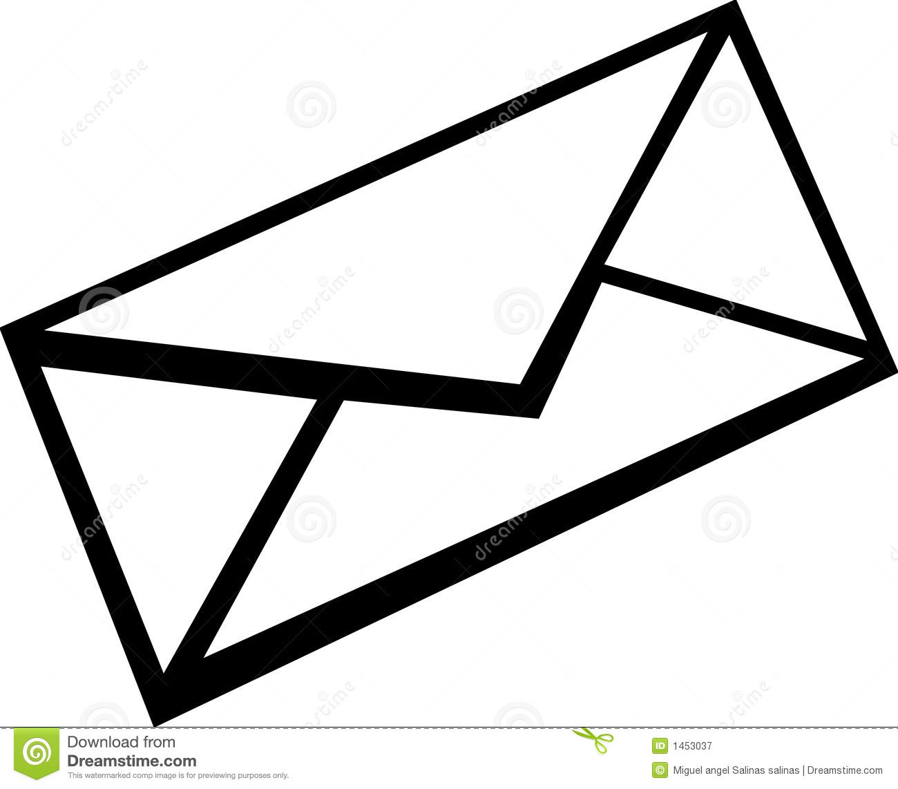 Free Envelope Clipart Black And White, Download Free Clip.