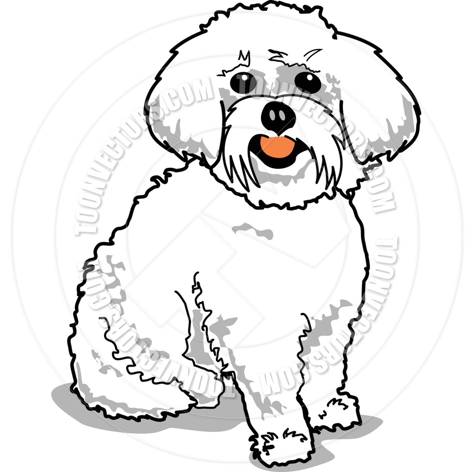 Maltese Dog Clipart.
