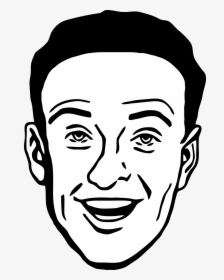 Office Clipart Man Face Protection Black White.