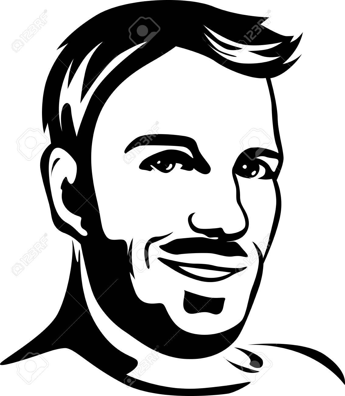 Man Black And White Clipart.