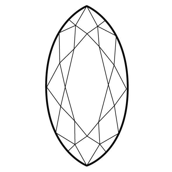 Pin on Marquise, Navette shape in jewelry and design.