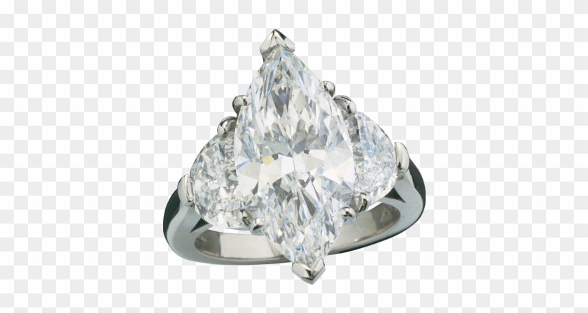 Brilliant White Marquis Cut Diamond With Half Moon.