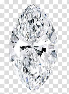 Gemstones, marquise cut diamond transparent background PNG.