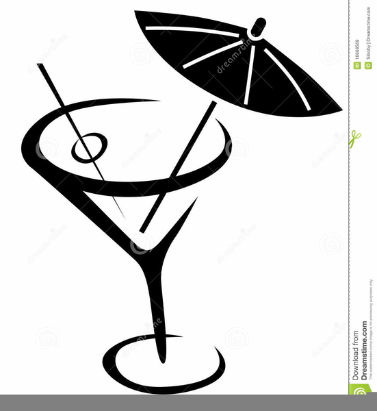 Martini Glass Clipart Black And White.