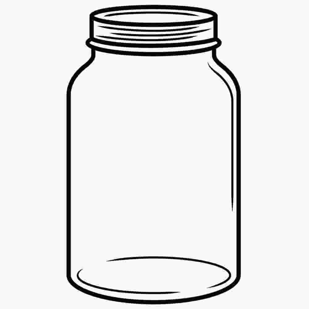 Cliparts Club: Jar Clipart Black And White.