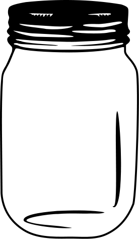 Free Mason Jar With Flowers Clipart Black And White.
