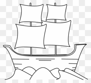 Black And White Mayflower Clip.