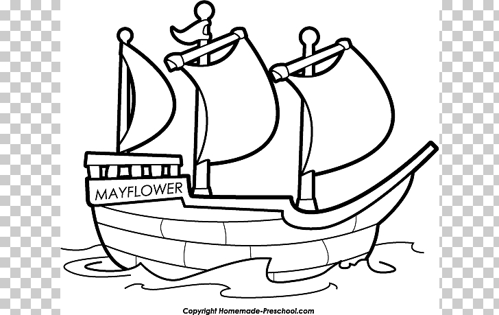 Ship Boat Black and white , Silhouttee Mayflower s PNG.