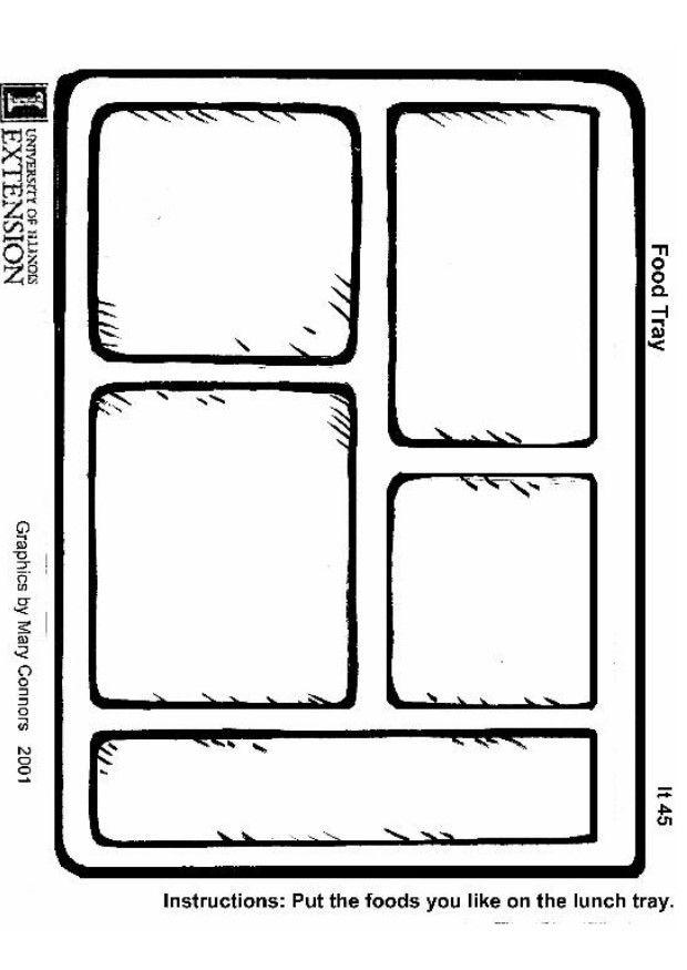 Coloring page of lunch tray pages for all ages clip art.