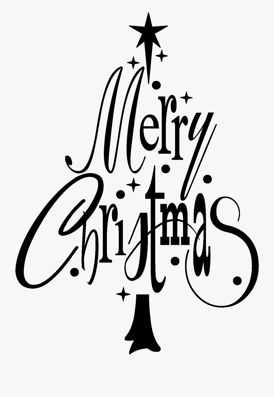 Merry Christmas Clipart White Tree.