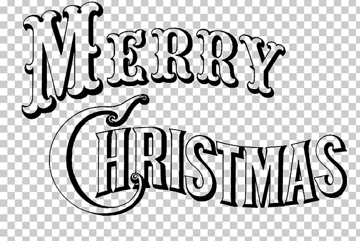 Merry Christmas PNG, Clipart, Area, Black And White, Brand.