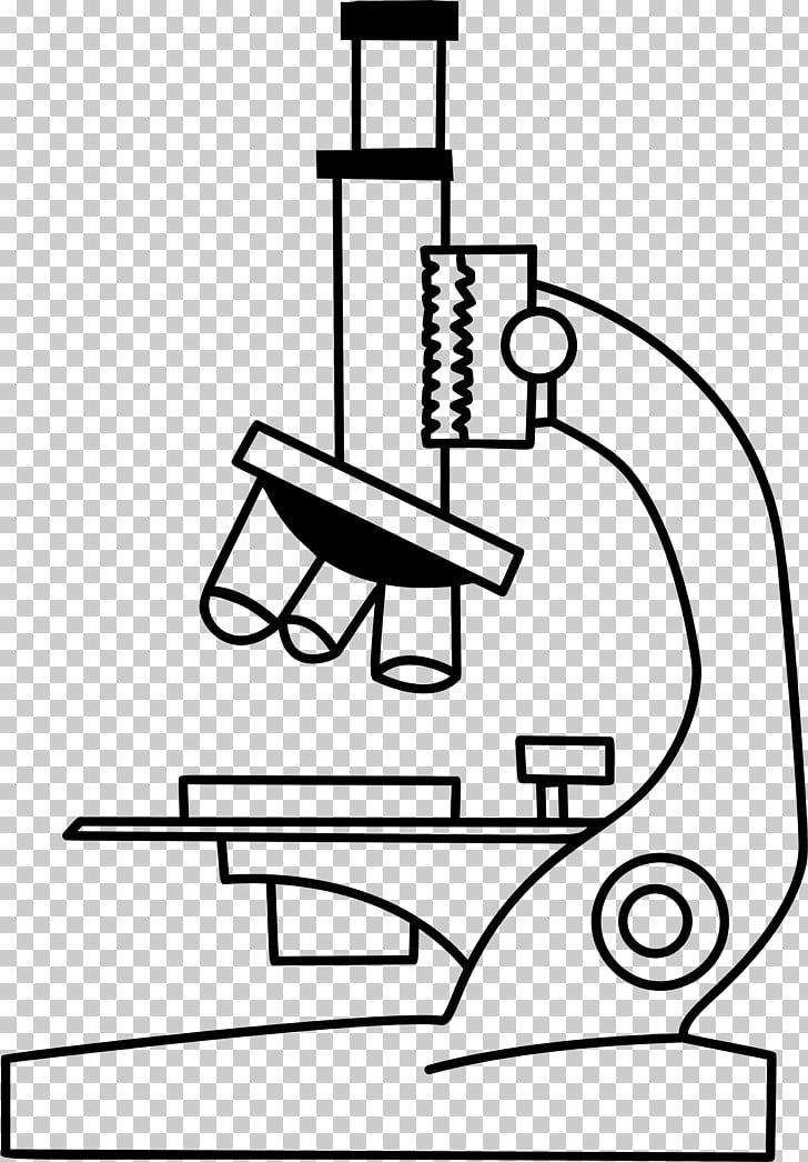 Microscope Black and white , microscope PNG clipart.