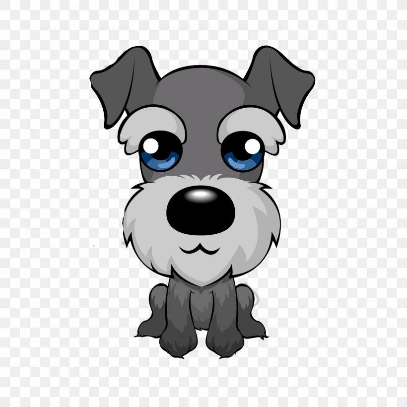 Miniature Schnauzer Puppy Cartoon Clip Art, PNG, 2953x2953px.