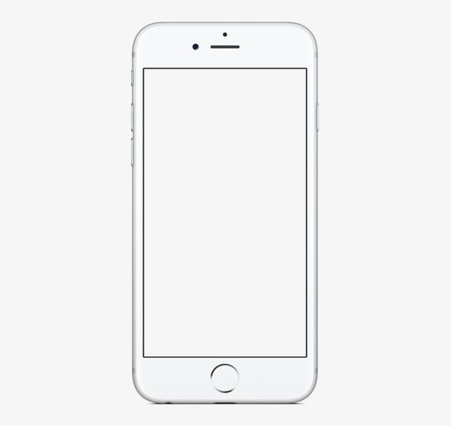 Pretty White Phone Iphone6 PNG, Clipart, Blank, Blank Mobile.