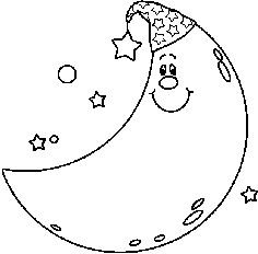 Moon Clipart Black And White.