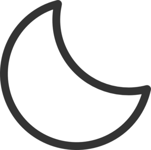 Moon Clip Art Black And White.