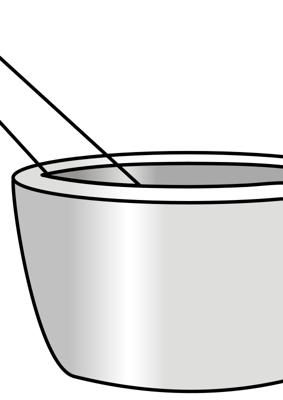 Free Clipart: Mortar with pestle.