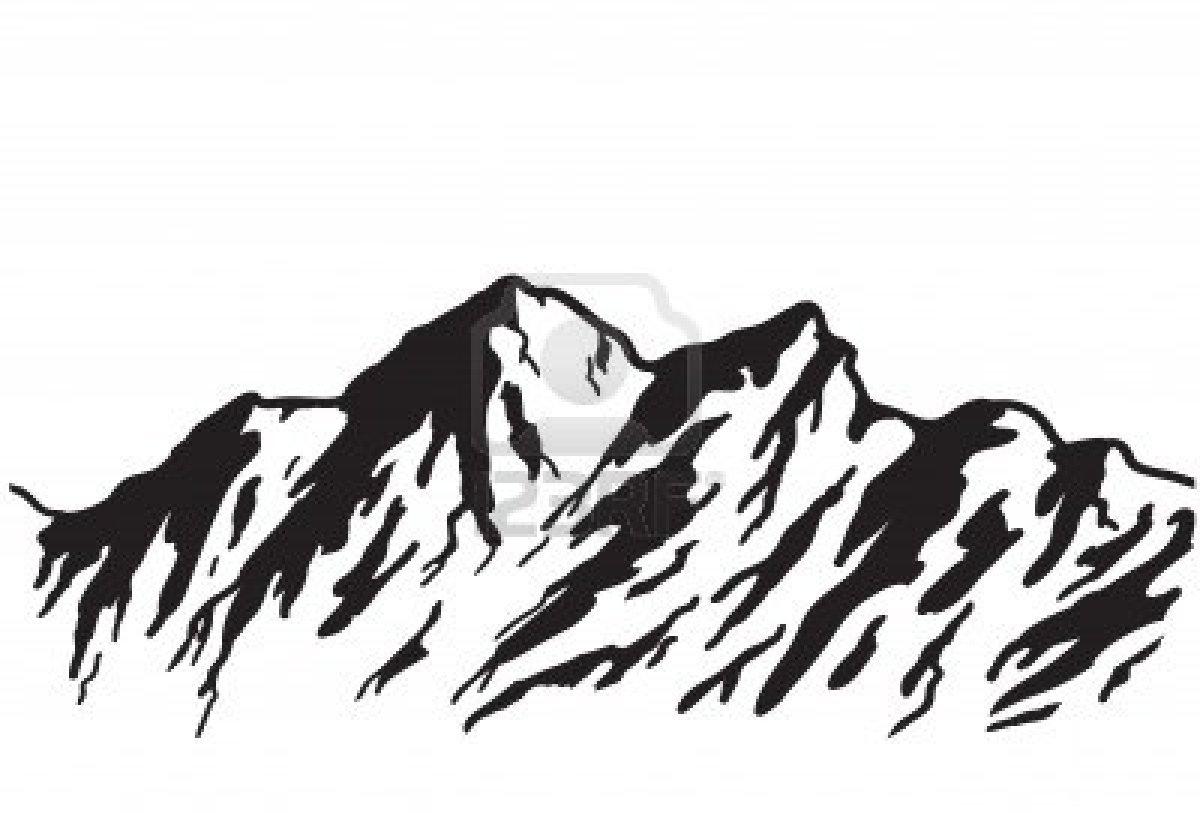 White Mountain Range Clip Art.