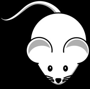 White Mouse Clip art.