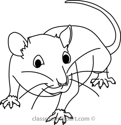 Mouse Black And White Clipart.