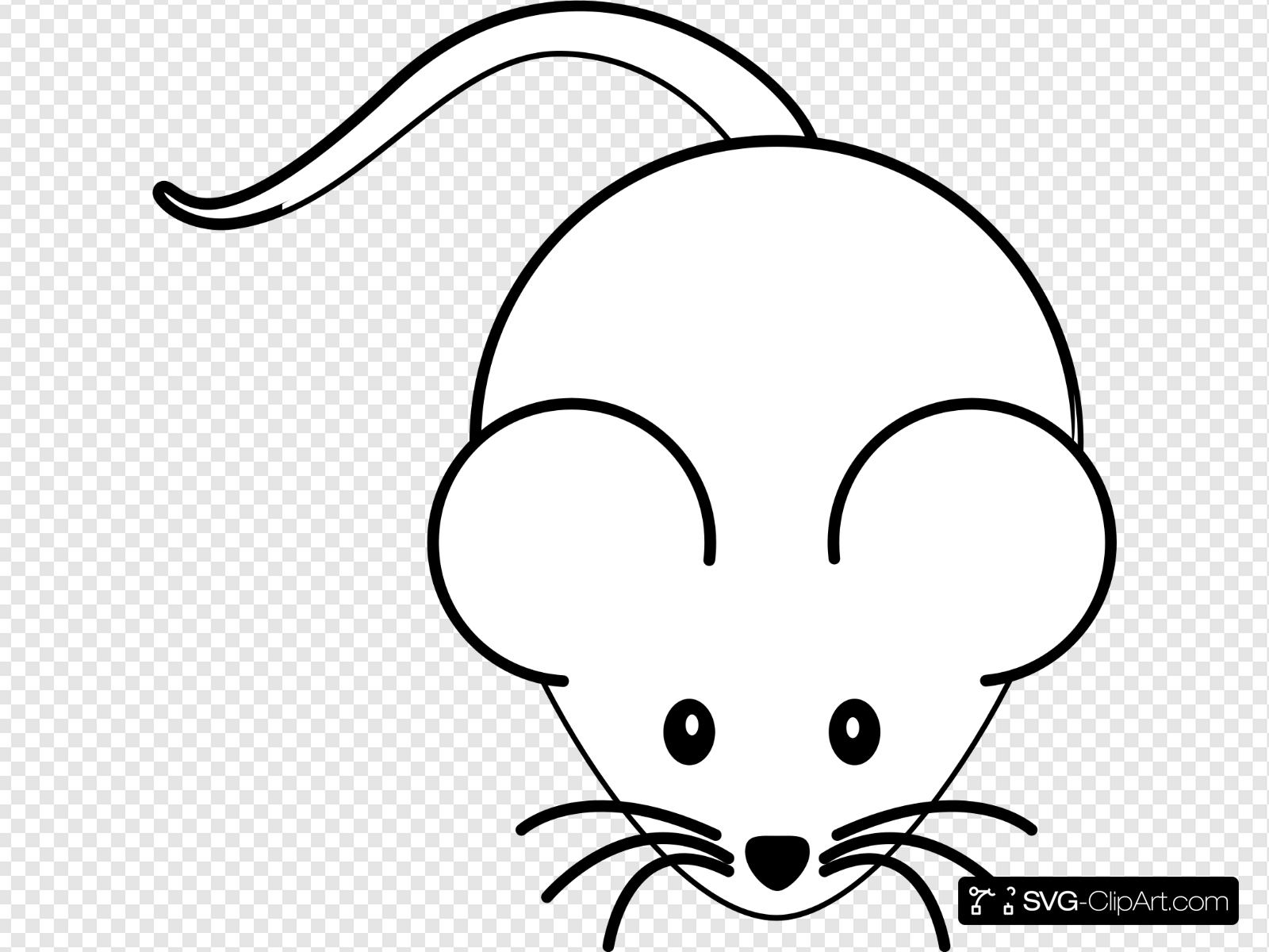 Black And White Mouse Clip art, Icon and SVG.