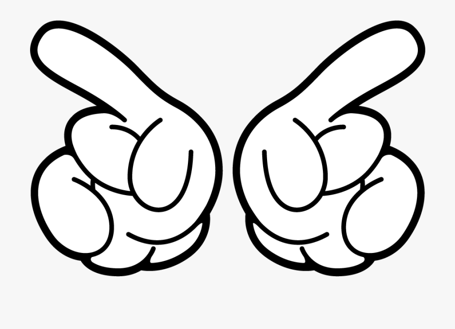 Mickey Mouse Hand Clipart.