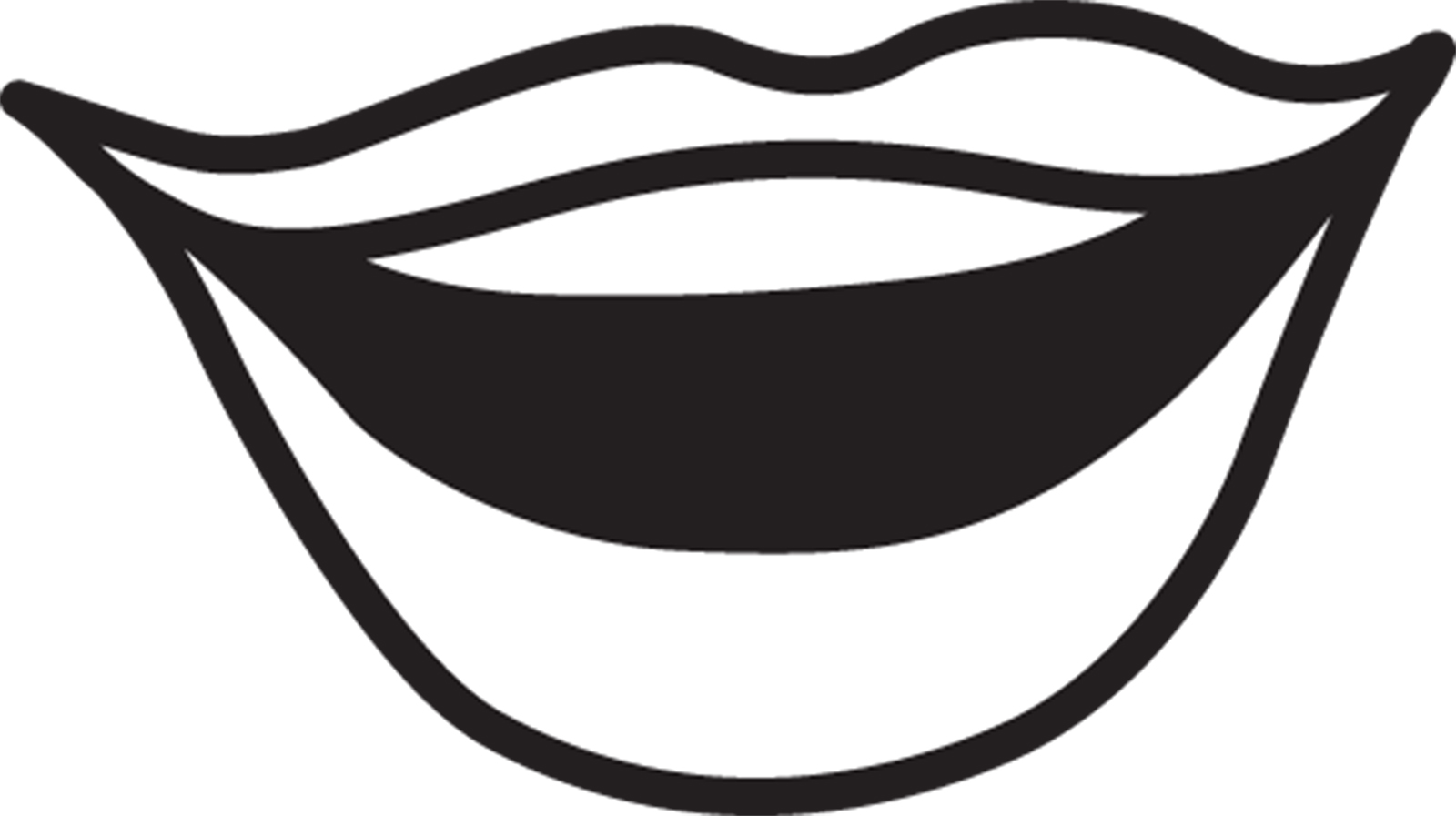Mouth Clipart Black And White.