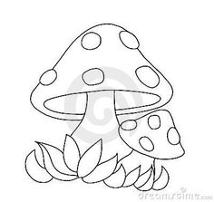 Mushrooms Clipart Black And White.