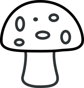 Black And White Mushroom Clip Art at Clker.com.