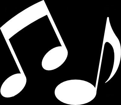 Music Notes Clipart White.