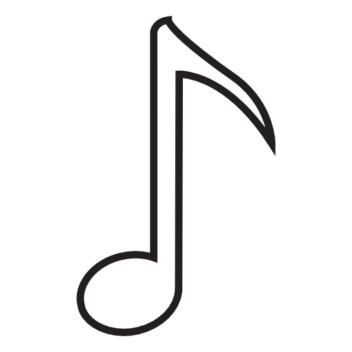 White Music Notes.