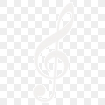 White Music Notes PNG Images.