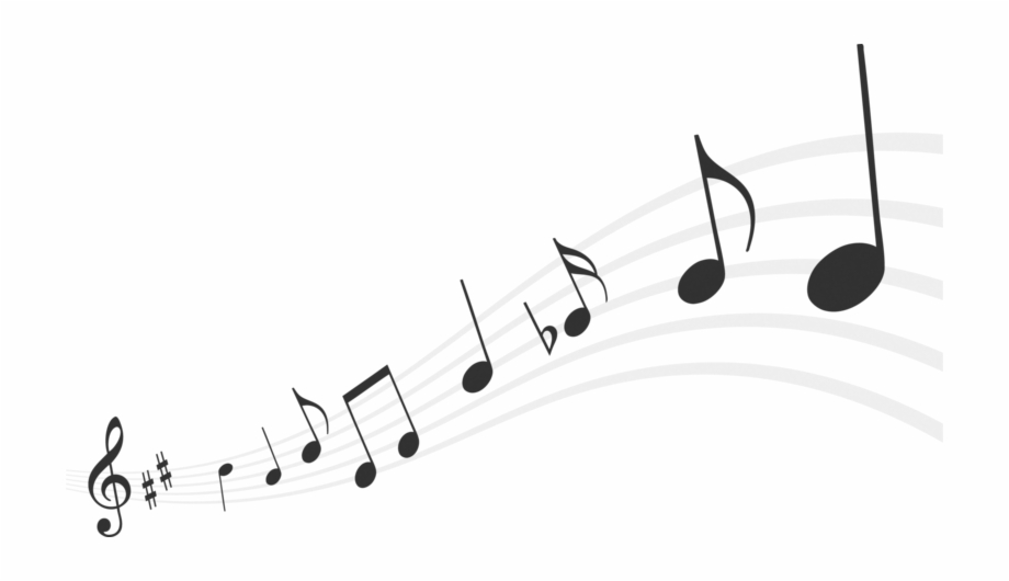 White Music Notes Png.