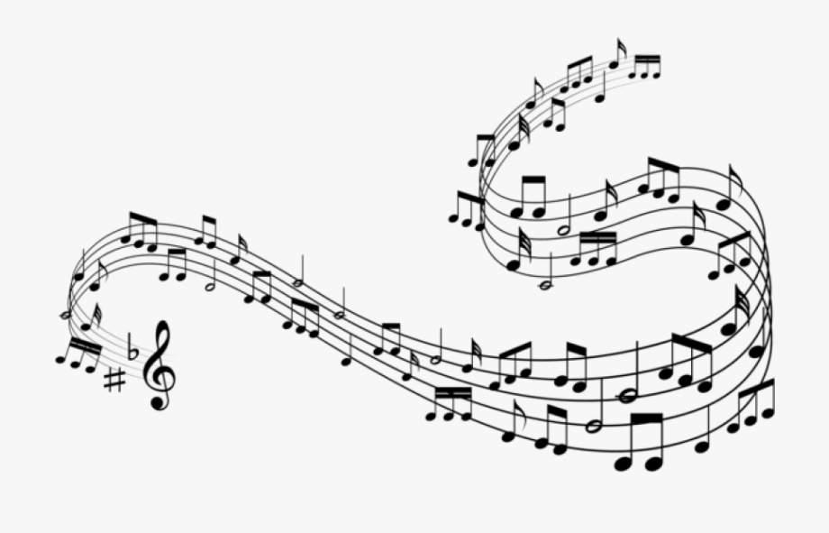 Decorative Music Notes Clipart Png.