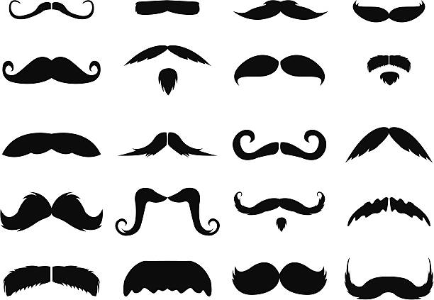 Best Mustache Illustrations, Royalty.