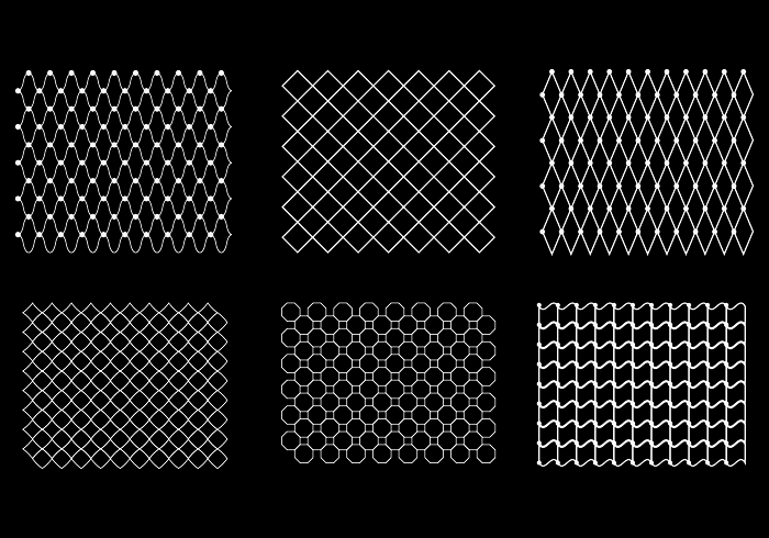 Free Fish Net Pattern Vector.