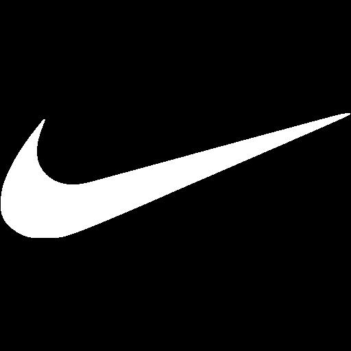 White nike icon.