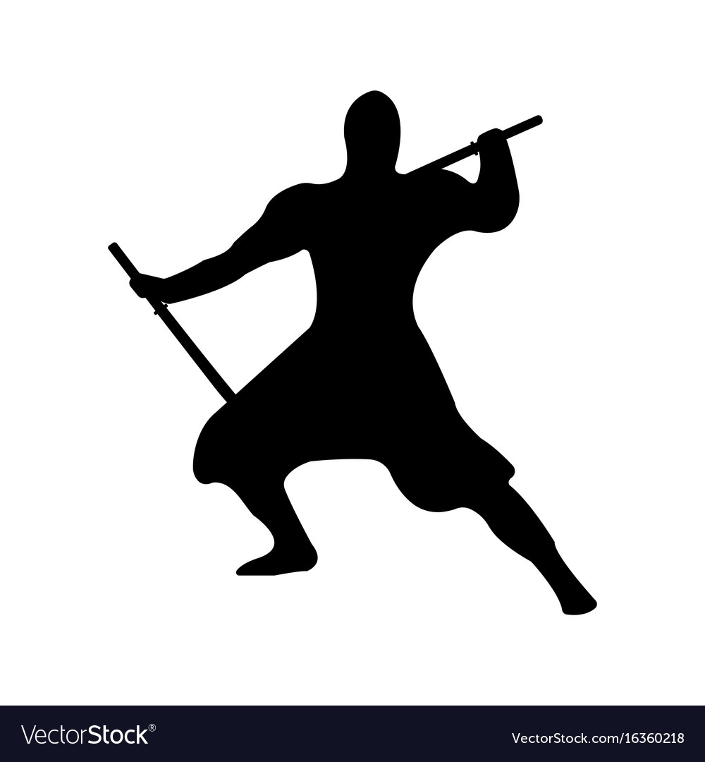 Ninja Warrior Silhouette.