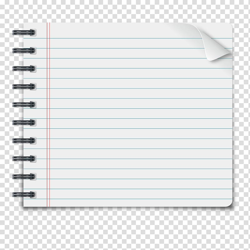 White line paper , Paper Notebook, Notebook transparent.